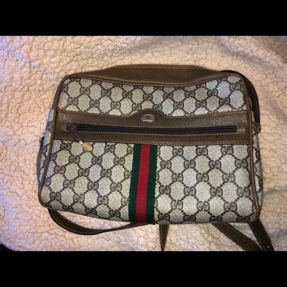 28079124cba2 Gucci Handbags - Vintage Gucci crossbody bag -authentic